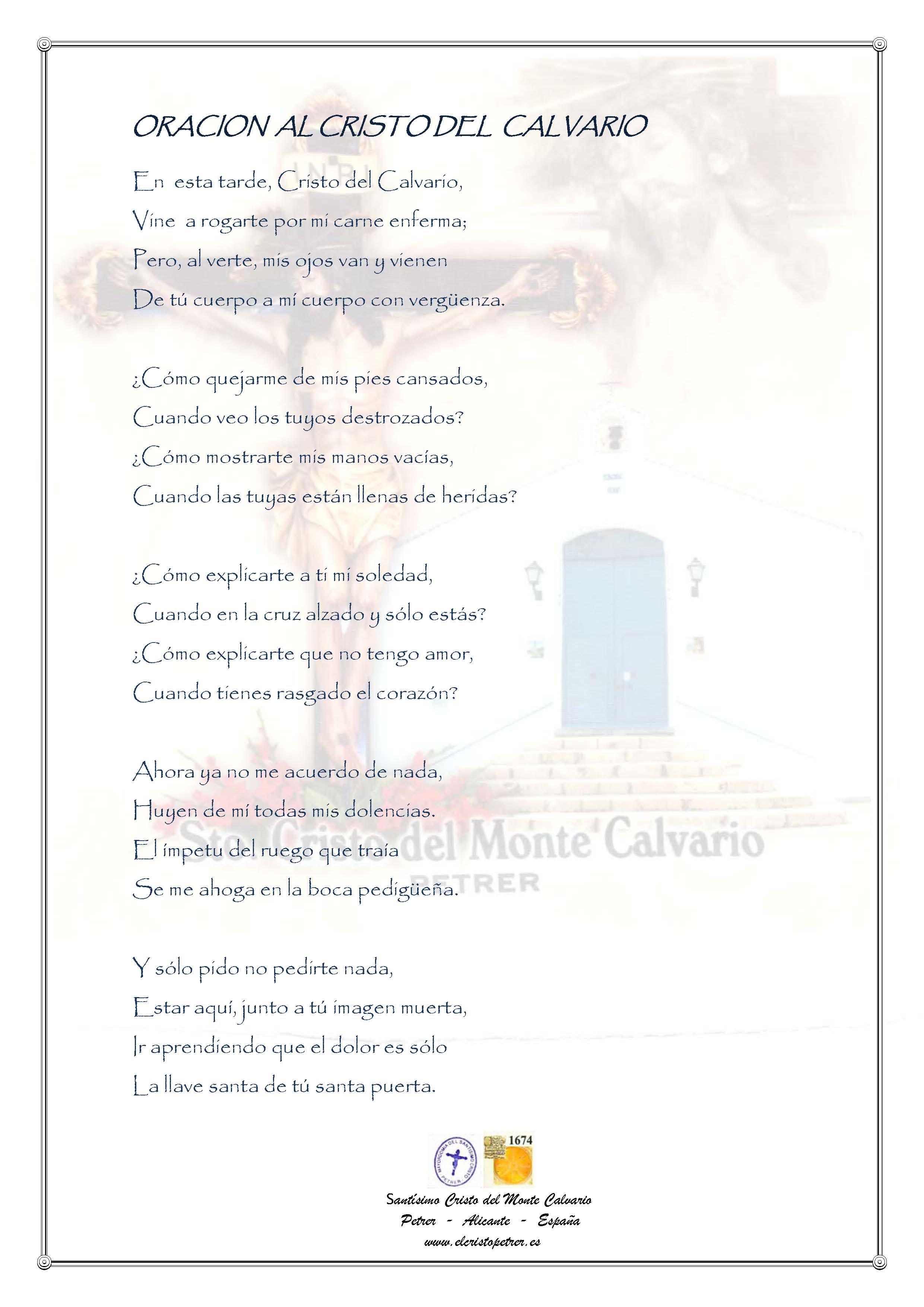 ElCristo - Oraciones - Anonimo - Revista xxxx - Al Cristo del Calvario