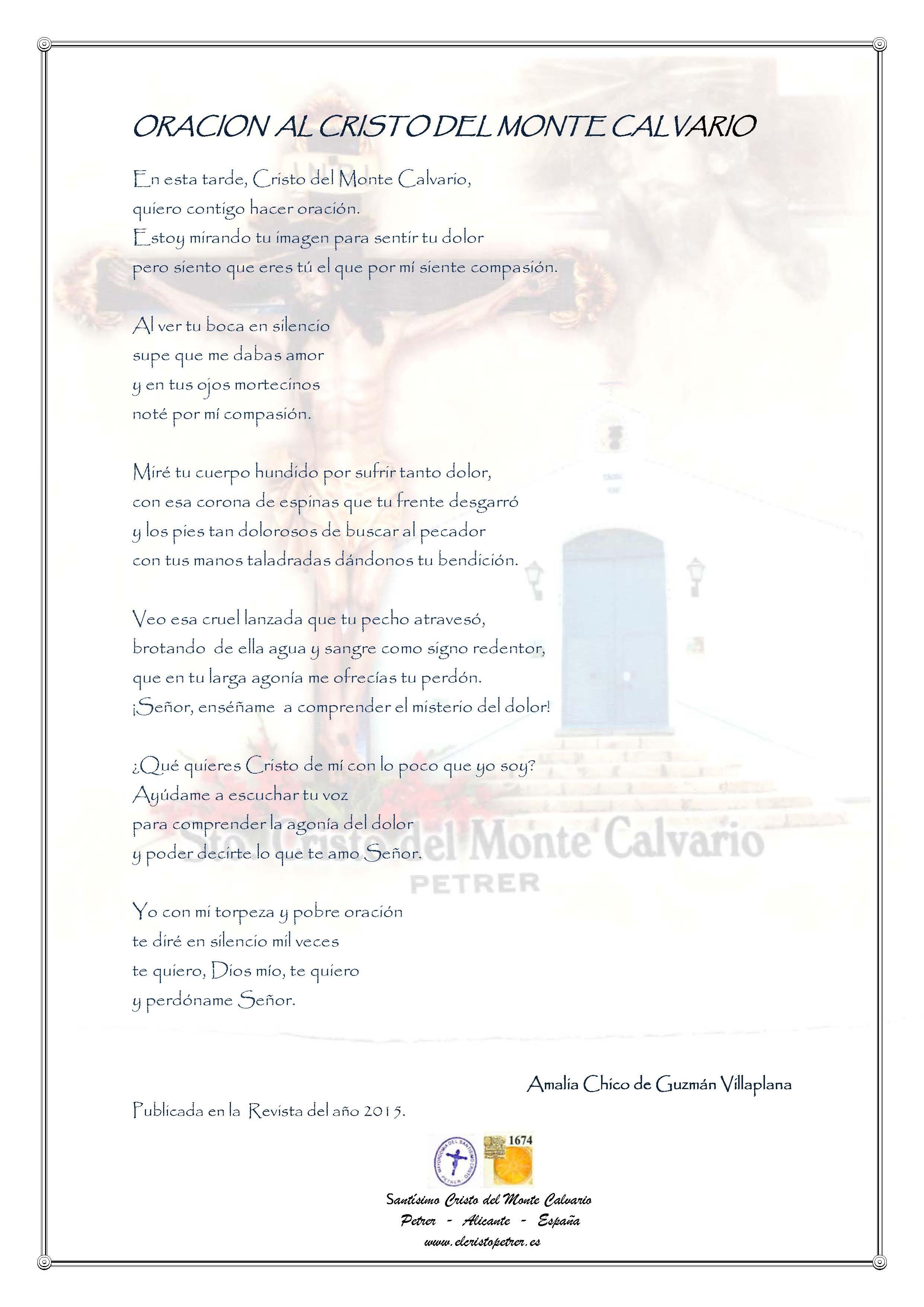 ElCristo - Oraciones - Chico de Guzman Villaplana, Amalia - Revista 2015 - Al Cristo del Monte Calvario