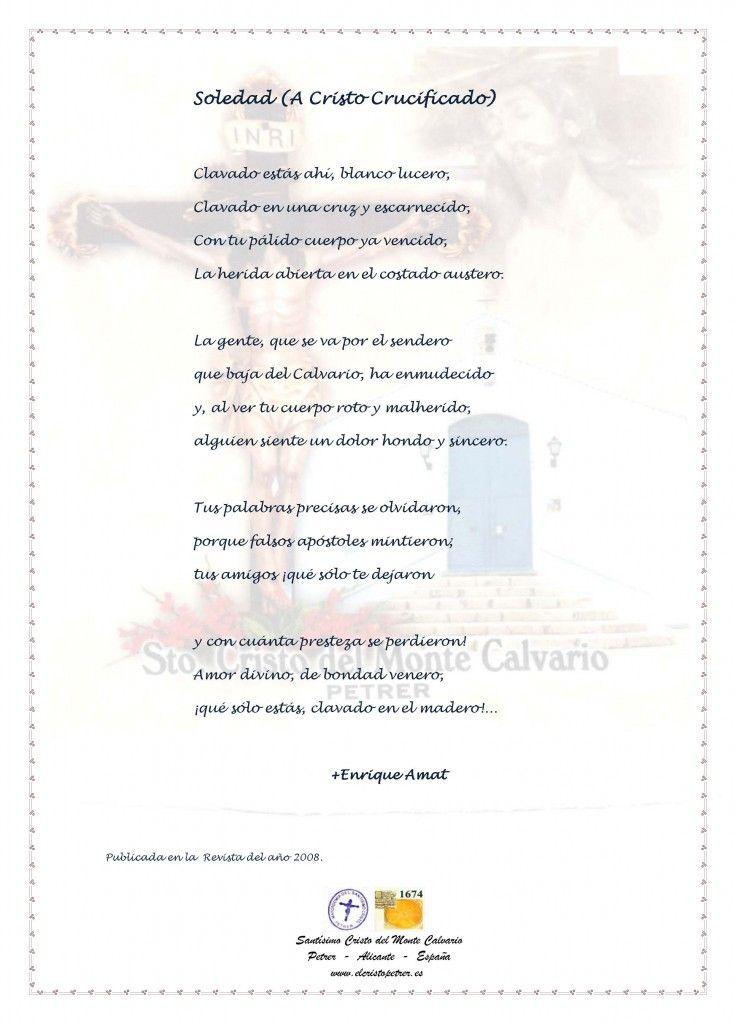 ElCristo - Poesias - Amat, Enrique - Revista 2008 - Soledad