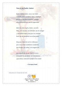 ElCristo - Poesias - Amat, Enrique - Revista 2009 - Ven a mi lado Señor