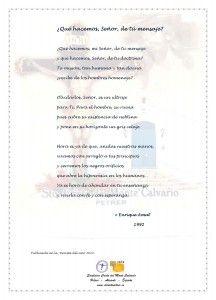 ElCristo - Poesias - Amat, Enrique - Revista 2014 - Que hacemos de tu mensaje