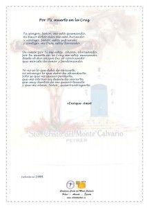 ElCristo - Poesias - Amat, Enrique - Revista xxxx - Por TU muerte en la Cruz