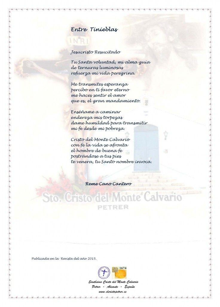 ElCristo - Poesias - Cano Cantero, Reme - Revista 2015 - Entre tinieblas