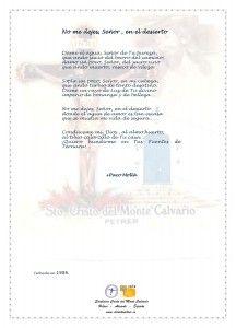 ElCristo - Poesias - Molla, Paco - Revista xxxx - No me dejes Señor en el desierto
