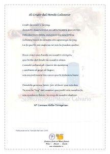 ElCristo - Poesias - Molla Torregrosa, Mari Carmen - Revista 2009 - Al Cristo del Monte Calvario