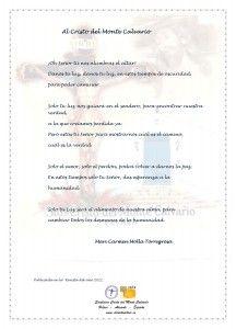 ElCristo - Poesias - Molla Torregrosa, Mari Carmen - Revista 2011 - Al Cristo del Monte Calvario