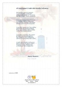 ElCristo - Poesias - Navarro, Maria - Revista xxxx - Al Santisimo Cristo del Monte Calvario