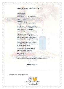 ElCristo - Poesias - Poveda, Esther - Revista 2011 - Sopla el Aire Brilla el Sol