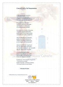 ElCristo - Poesias - Poveda, Yolanda - Revista 2011 - Cae el Sol y te buscamos