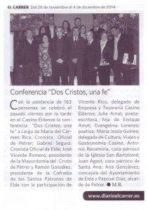 ElCristo - Actos - Dos Cristos Una FE - Conferencia - (2014-11-28) El Carrer