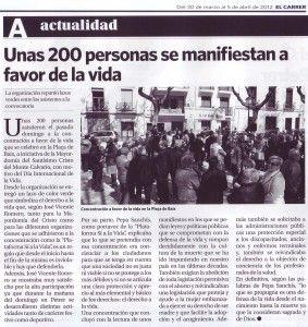 ElCristo - Actos - SI a la Vida - (2012-03-30) - El Carrer