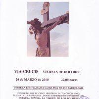 ElCristo – Historia – Documentos – (2010-03-26) – Cartel I Vía-Crucis nocturno