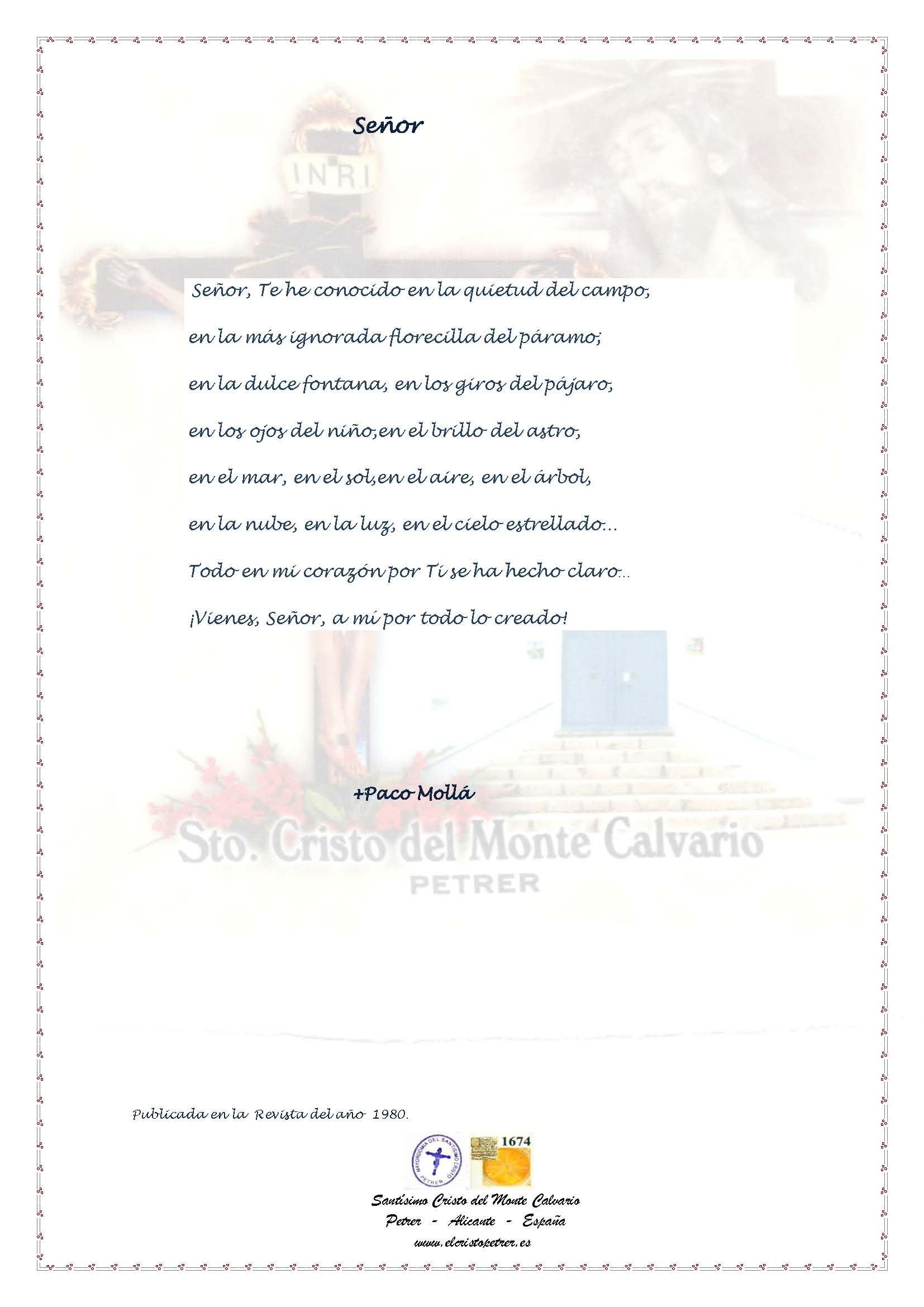 ElCristo - Poesias - Molla, Paco - Revista 1980 - Señor