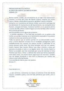 ElCristo - Recitales - 27 Noviembre 2015 - Presentación