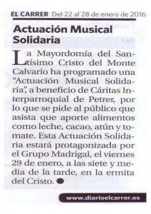 ElCristo - Actos - Actuación Musical Solidaria - Grupo Madrigal - (2016-01-22) - El Carrer