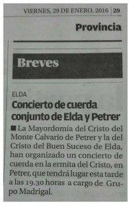 ElCristo - Actos - Actuación Musical Solidaria - Grupo Madrigal - (2016-01-22) - Periodico Información