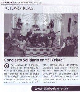 ElCristo - Actos - Actuación Musical Solidaria - Grupo Madrigal - (2016-02-05) - El Carrer