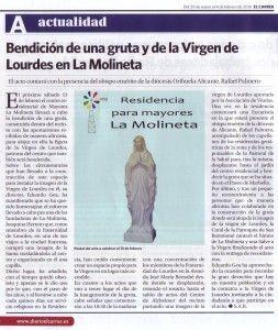 ElCristo - Actos - La Molineta - Inauguración VIRGEN DE LOURDES - (2016-01-29) - El Carrer