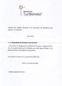 ElCristo - Actos - La Molineta - Inauguración VIRGEN DE LOURDES - (2016-02-13) - Saluda