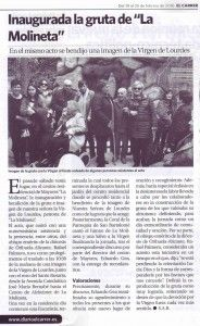 ElCristo - Actos - La Molineta - Inauguración VIRGEN DE LOURDES - (2016-02-19)