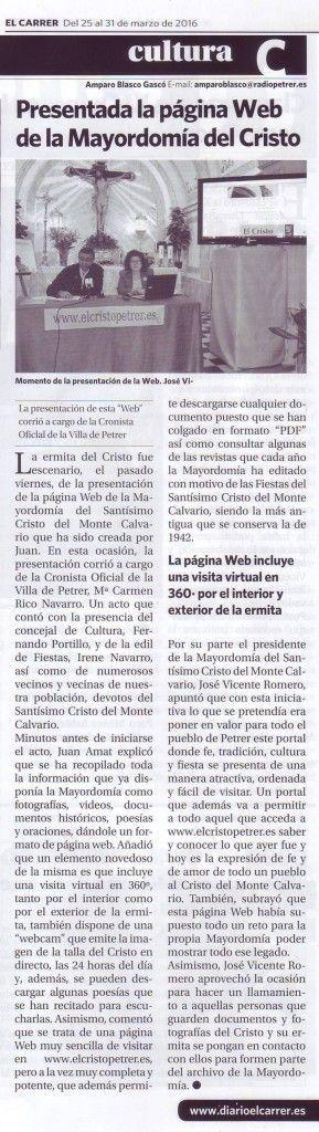 (2016-03-25) - Presentación Página Web - El Carrer