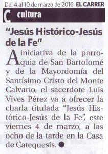 ElCristo - Actos - Charla Jesús Histórico - (2016-03-04) El Carrer