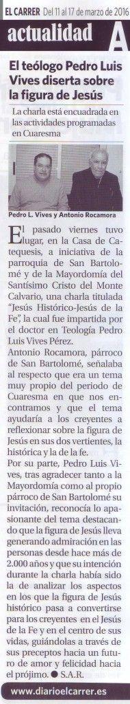 ElCristo - Actos - Charla Jesús Histórico - (2016-03-11) - El Carrer