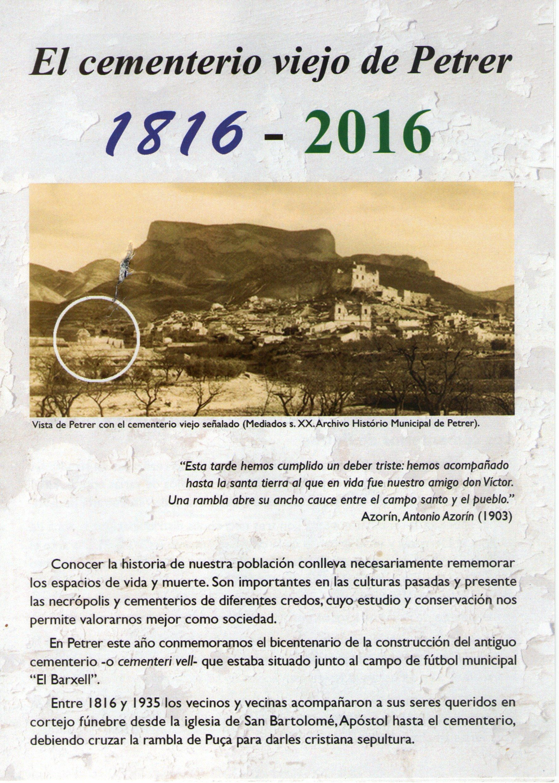 ElCristo - Agenda - II Centenario Cementerio - (1816-2016)