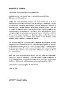 ElCristo - Agenda - (2016-06-17) - Misa del Costalero 2016