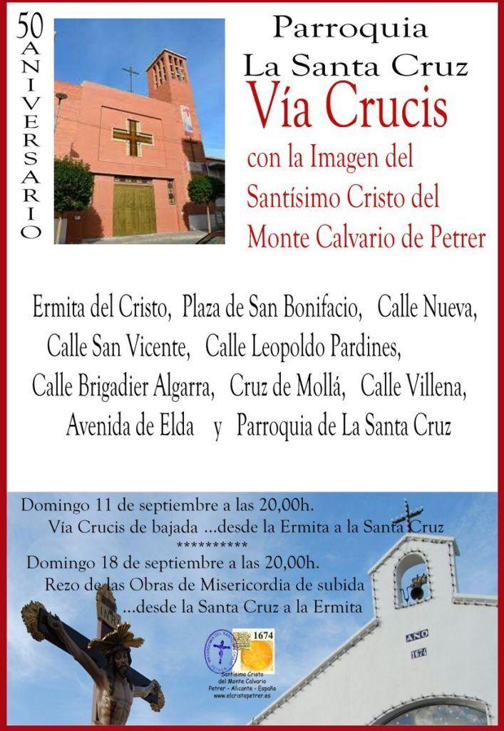 ElCristo - Actos - (2016-09-11) - Via Crucis - 50 Anv.Parroquia La Santa Cruz