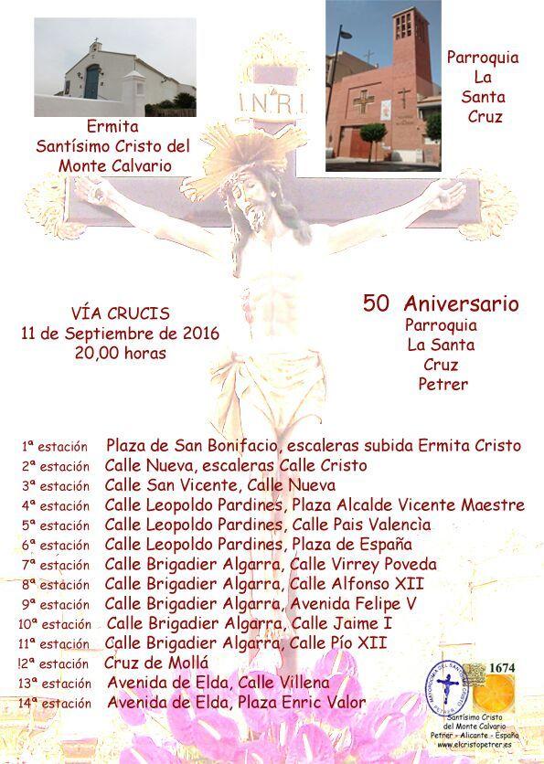 Via CRUCIS - 50 Anv. La Santa Cruz - Septiembre 2016