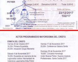 ElCristo – Loteria – Navidad 2017 – Papeleta