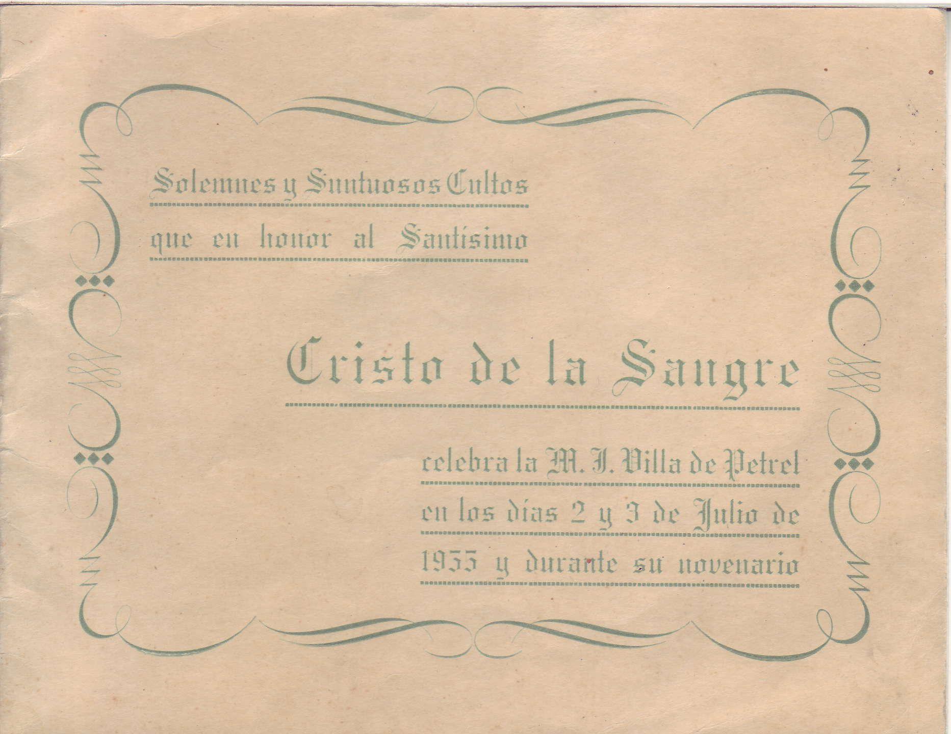 ElCristo - Revista - Portada Año 1955