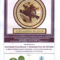 ElCristo – Actos – Matasellos 75 Aniversario – Cartel Exposición – (2018-10-06)