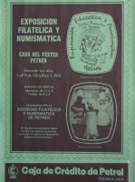 Año 1985 – Exposición Filatélica