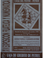 Año 1998 – XVI Exposición Filatélica