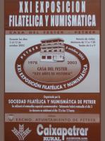 Año 2003 – XXI Exposición Filatélica