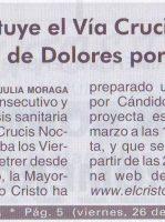 ElCristo – Prensa – (2021-03-26) – Video XII Via Crucis Nocturno – Valle de Elda